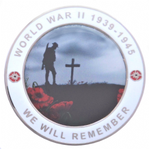 We Will Remember 2nd World War WWII Service Personel Remembrance Coin - Boxed